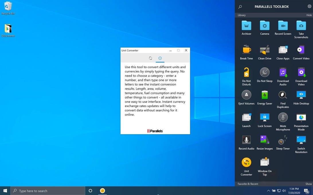 parallels-toolbox-unit-converter-windows-10-screenshot