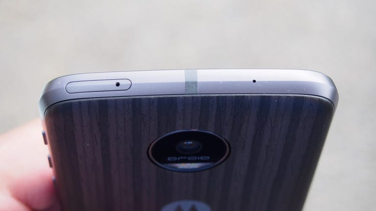 Top of the Moto Z Force Droid