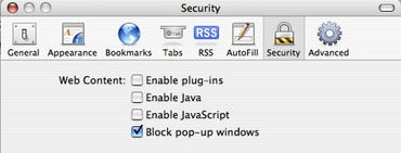 Hardened browser configuration