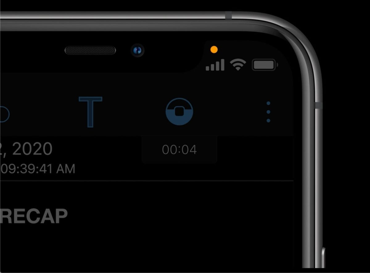 You'll know when apps use your iPhone or iPad's mic or camera