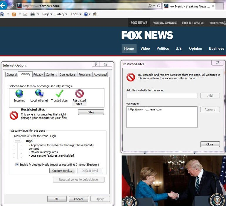 Internet Explorer 11 Block Autoplay