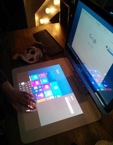 Driving Windows 8.1 by touch