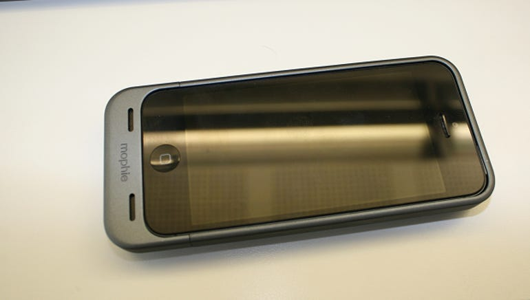 The Mophie case is made out of hard plastic and comes with a soft finish