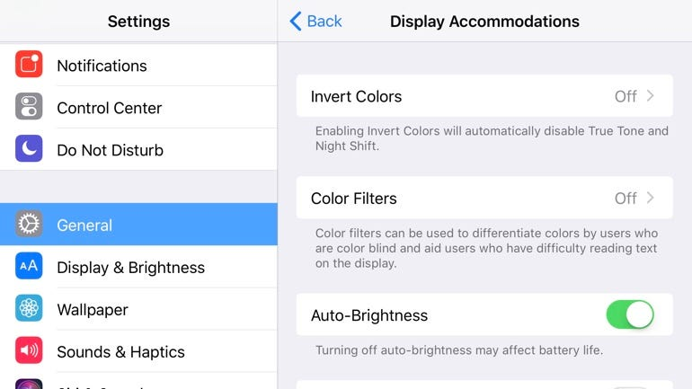 Customize screen brightness