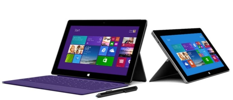 Surface Pro 2 and Surface 2