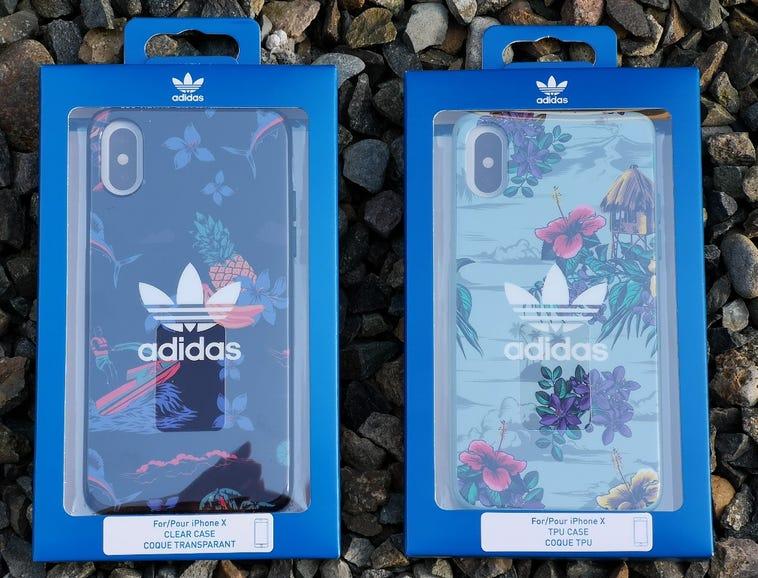 Two island print Adidas Originals cases