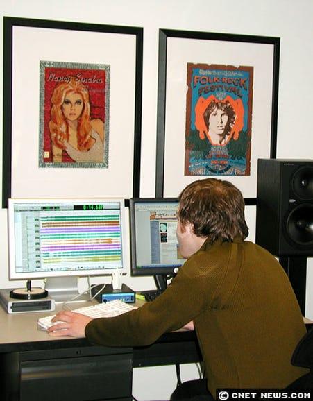 Hard at work preparing tunes for crankage