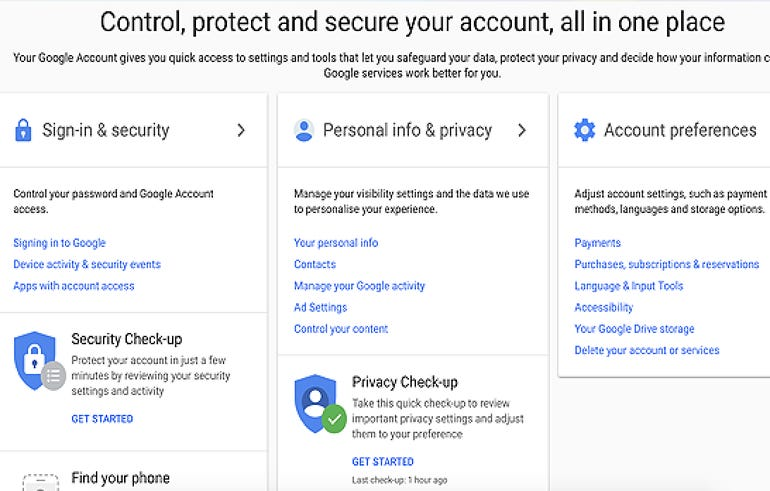Google account restriction and deletion