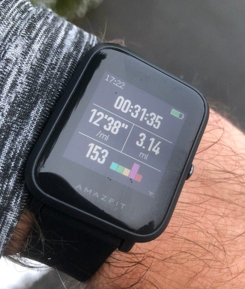 Running with the Amazfit Bip