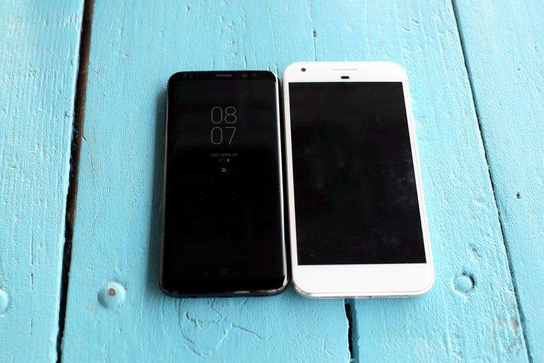 Galaxy S8 vs Google Pixel XL