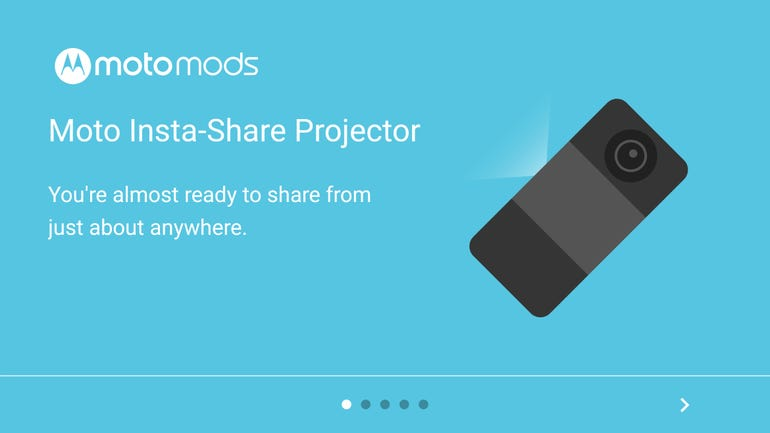Insta-Share Projector attached