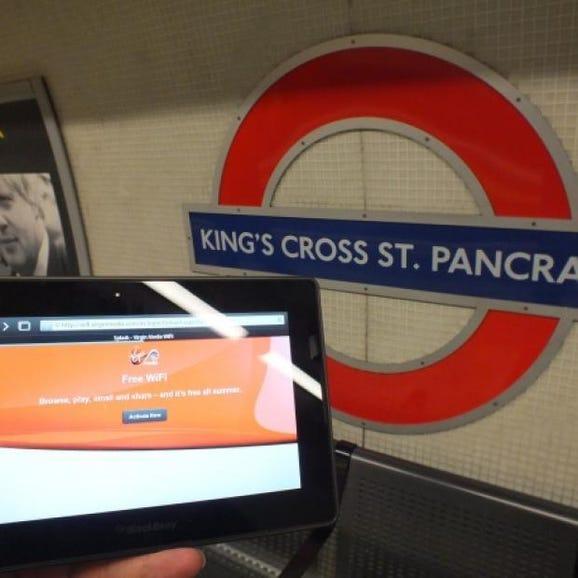 London Underground Virgin Wi-Fi splash login