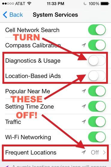 Privacy settings you should enable in iOS 7 immediately - Jason O'Grady