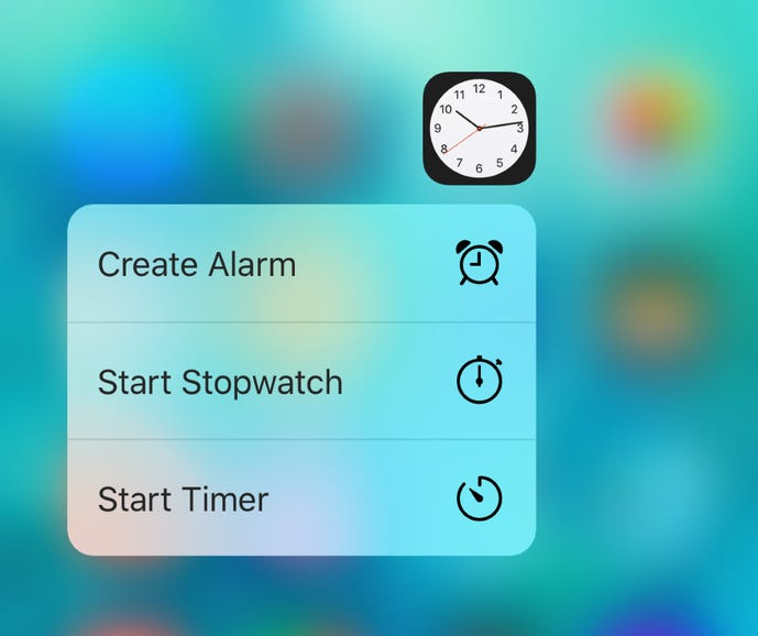 3D Touch for Clock