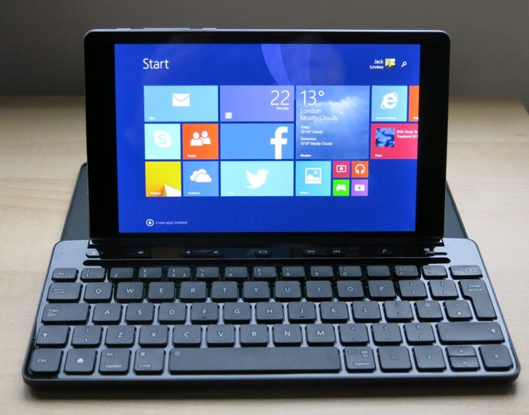MyTable with Microsoft Universal Mobile Keyboard
