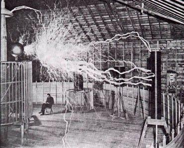 Tesla in Colorado Springs in 1899-1900