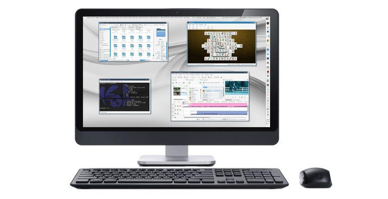 KaOS Linux on desktop