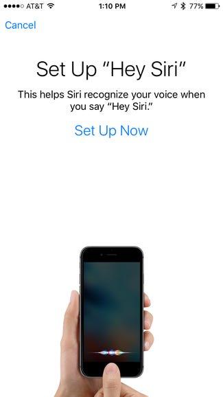 "Personalize ""Hey Siri"""