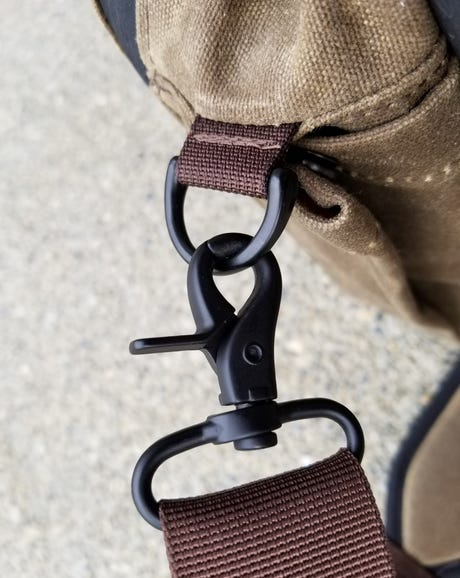 Durable should strap clips