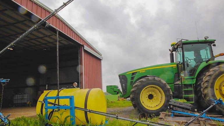 Farming equipment at Purdue University