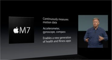 The M7 being introduced by Apple's Phil Schiller