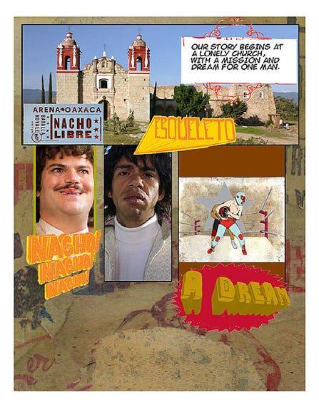 """""""Nacho Libre"""" comic page"""