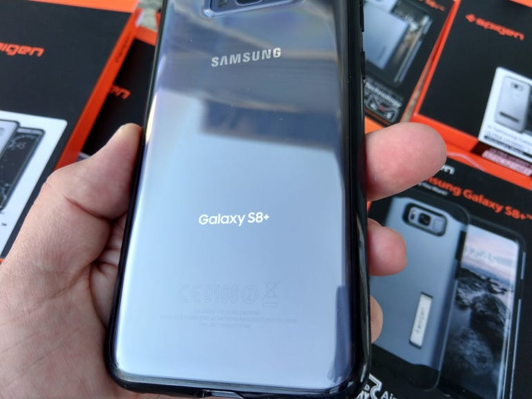 Clear back shows off your S8 Plus