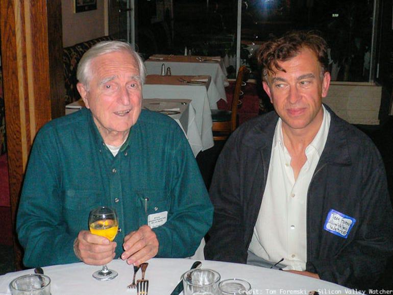 Doug Engelbart (left) with Tom Foremski