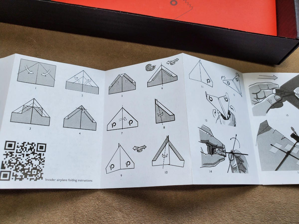 Android Red POWERUP 4.0 Smartphone Controlled Paper Airplane iOS