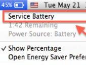 MacBook users seeing 'Service Battery' message after Mavericks upgrade