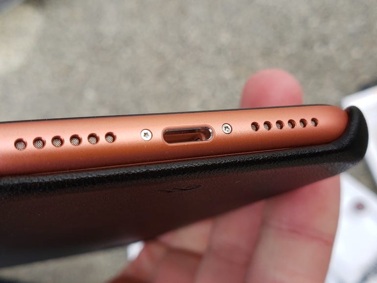 Bottom open on the Barely There Leather case