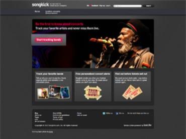 Songkick homepage