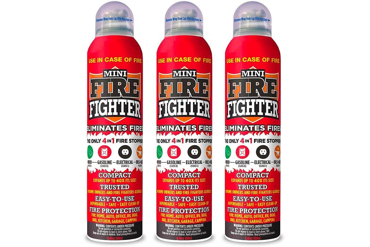 Mini Firefighter multi purpose 4-in-1 fire extinguisher (3-pack)