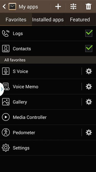 Manage your favorite apps, including rearranging the order on your Gear