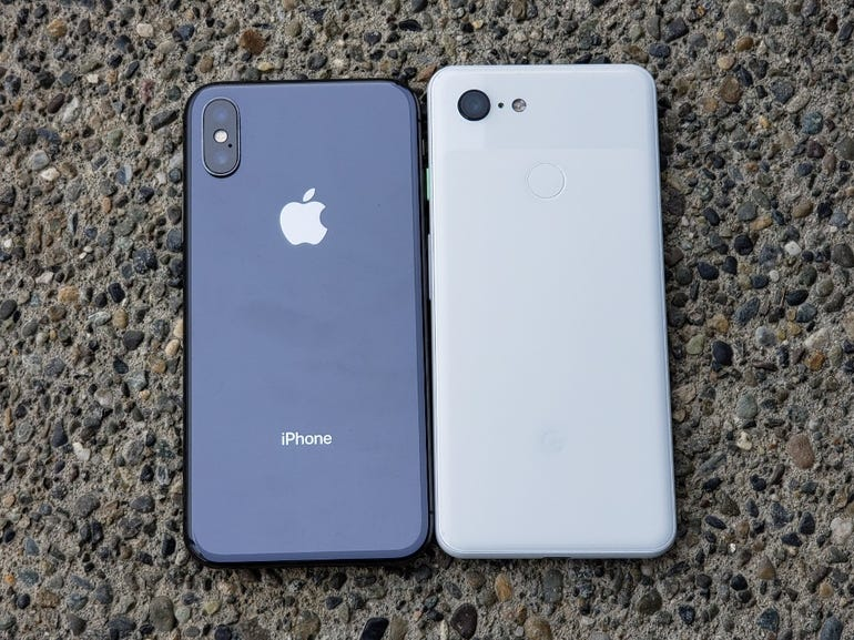 iPhone X and Pixel 3