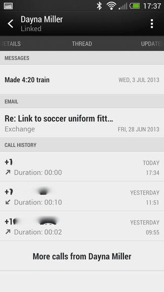 Recent comms with HTC Sense 5