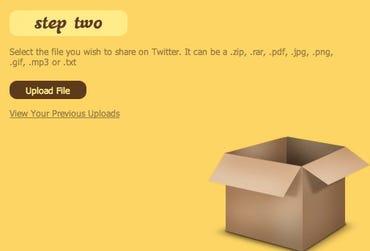 TweetCube, dead simple filesharing on Twitter