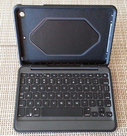 Rugged Folio for the  iPad mini open