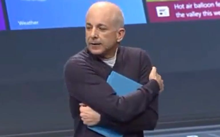 Sinofsky hugs his Surface with Windows RT