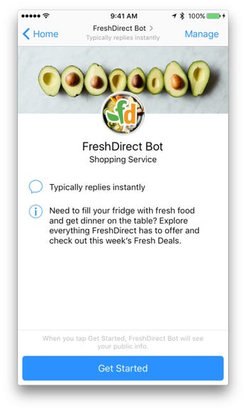Getting Started with FreshDirect