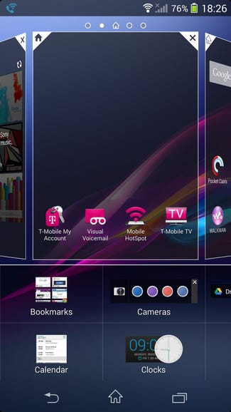 Managing your home screen panels