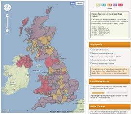 UK broadband map