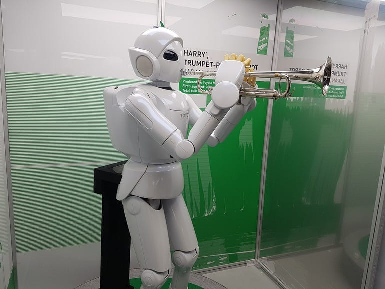 Harry the trumpet-player robot