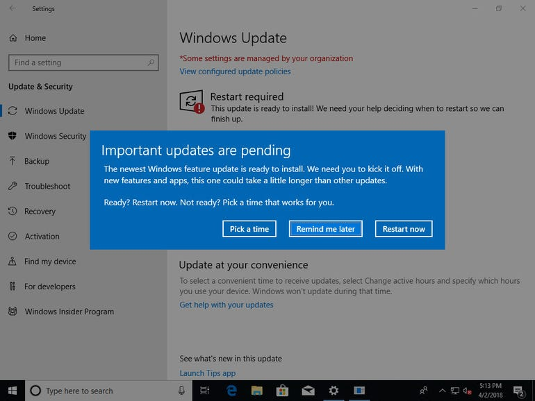 Version 1803, coming soon to a Windows 10 PC near you