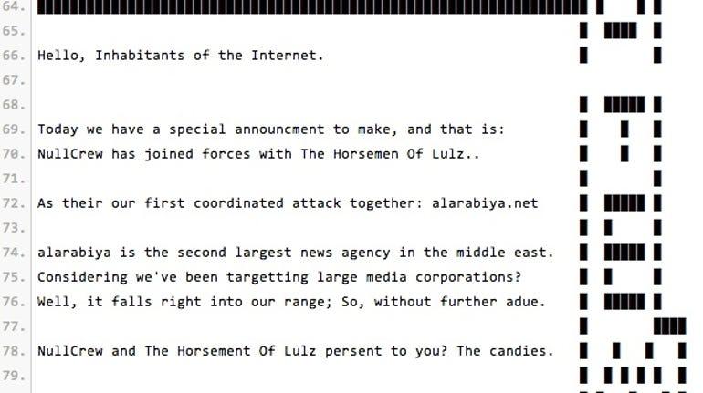 NullCrew hacked Al Arabyia