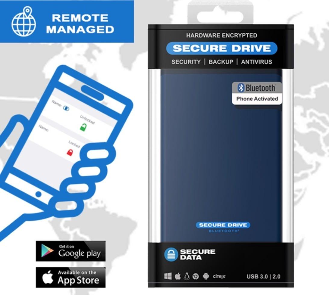 SecureDrive BT encrypted external hard drive