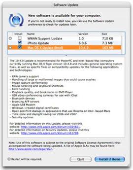 Mac OS 10.4.9 Update