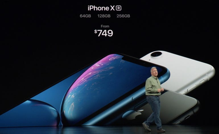 iPhone XR pricing and storage capacities