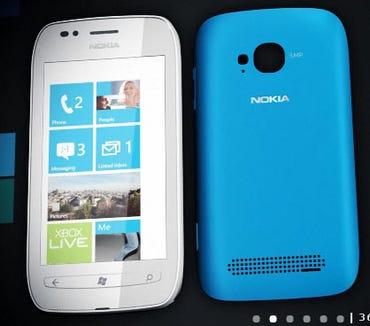 Nokia Lumia 710 with WP7. Image from Nokia.com
