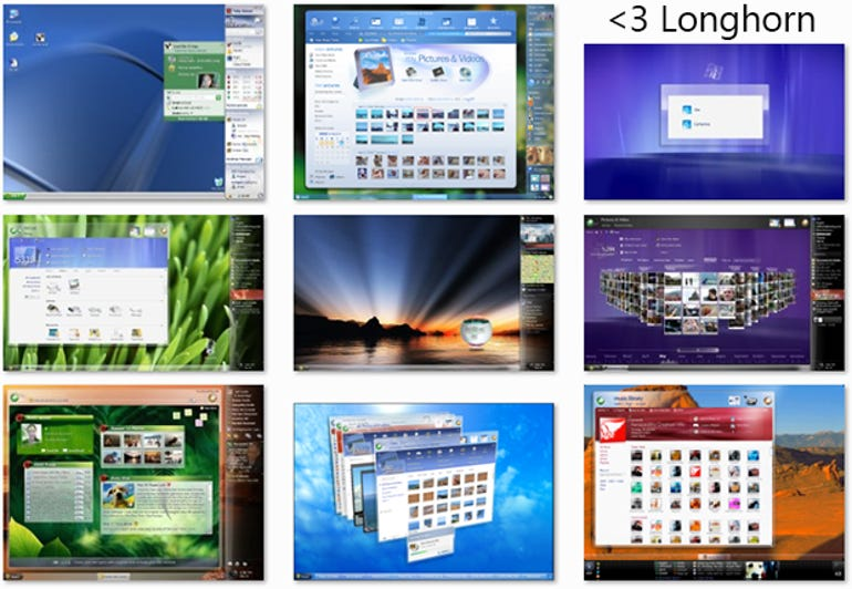 Windows Longhorn: still the most exciting Windows UI to date (gallery)